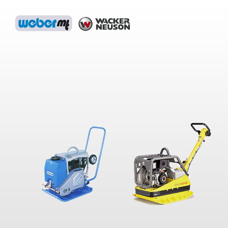 Weber og Wacker Neuson vibrationsmateriel